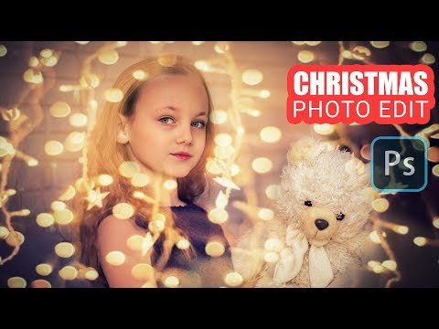 Beautify Christmas Photos By Adding String Lights : Photoshop Tutorial thumbnail
