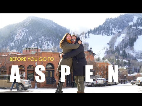 Before you go to Aspen...