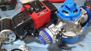 Motores de 49 cc gasolina y eléctricos de  24 voltios y 500 watios