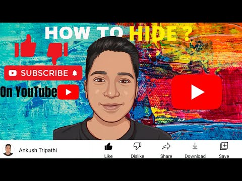 Hide Subscribers on YouTube channel    How to hide likes and dislikes on YouTube videos    Ankush   