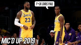 Best NBA Mic'd Up Moments Compilation 2019 || Los Angeles Lakers Edition