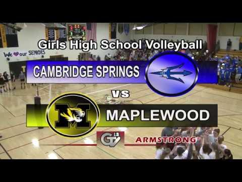 Cambridge Springs vs Maplewood-Girls High School Volleyball