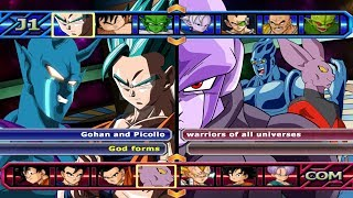 Gohan and Picollo VS Warrios of all universes | dragon ball budokai tenkaichi 3 mods