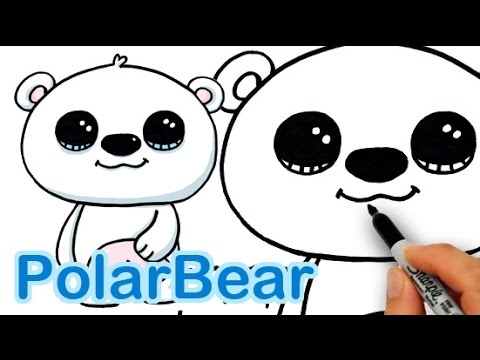 How To Draw A Polar Bear Cute And Easy Youtube