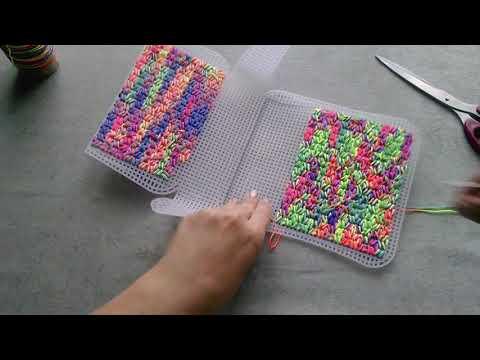 Как вышить сумочку на пластиковой канве_ч1