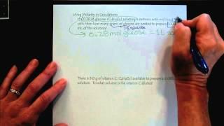 Chem 309 Solutions & Membranes Part 4 Molarity