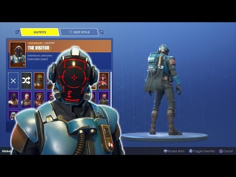 """UNLOCKING THE NEW BLOCKBUSTER SKIN """"The Visitor"""" - Completing All Fortnite Challenges!"""