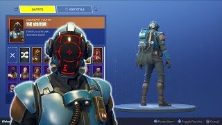 "UNLOCKING THE NEW BLOCKBUSTER SKIN ""The Visitor"" - Completing All Fortnite Challenges!"
