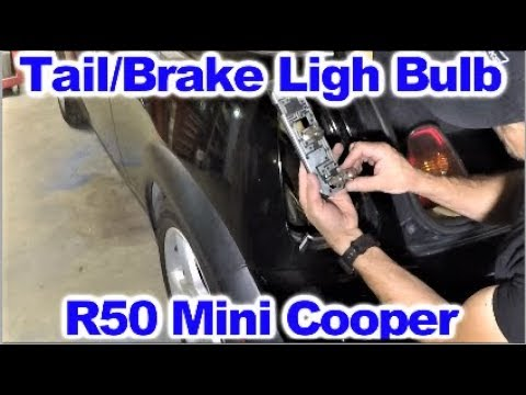 How To Replace Tail Light Brake Or Turn Signal Bulb In 2003 Mini Cooper