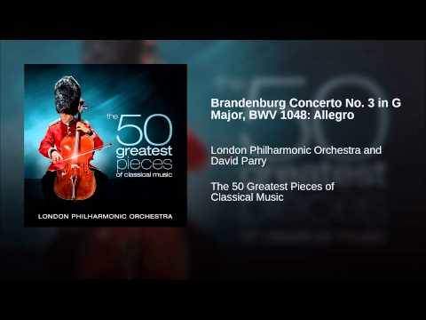 Brandenburg Concerto No 3 in G Major, BWV 1048: Allegro