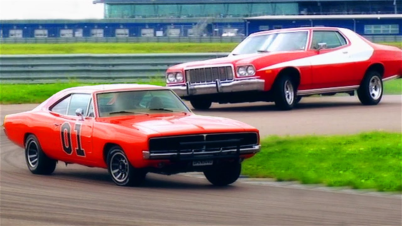 General Lee vs. Starsky & Hutch #TBT - Fifth Gear - YouTube