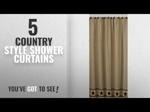 Top 10 Country Style Shower Curtains [2018]: Park Designs Primitive Star Shower Curtain, 72 by 72""