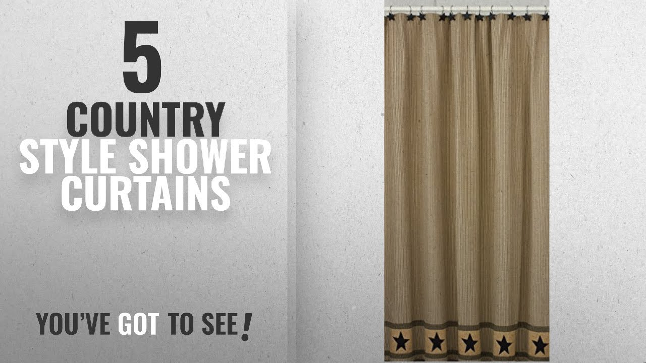 Top 10 Country Style Shower Curtains 2018 Park Designs Primitive