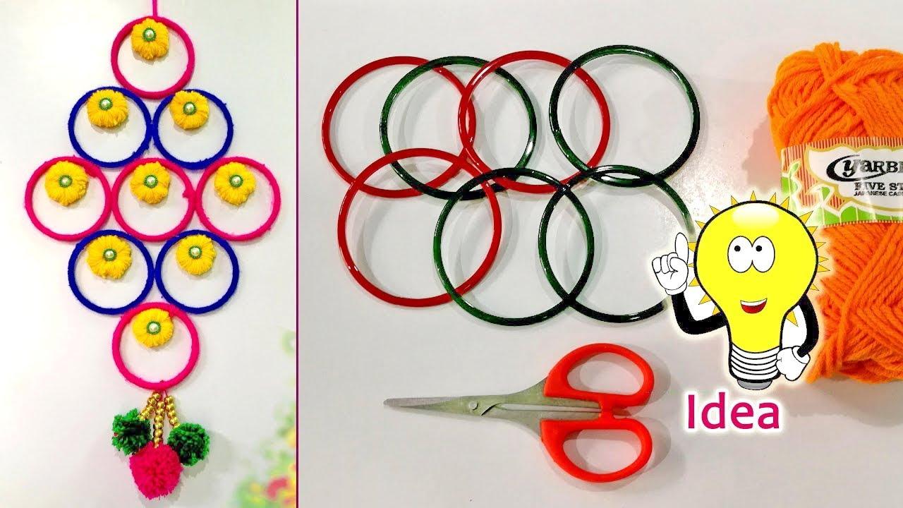 Diy Old Bangles Reuse Idea Best Wall Hanger Idea Diy Arts And Crafts Amazing Craft Idea