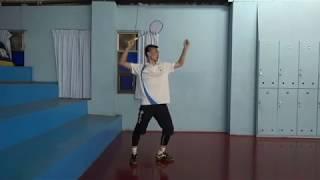 [羽球教學]教練示範 上手揮拍與步法-羽球密碼