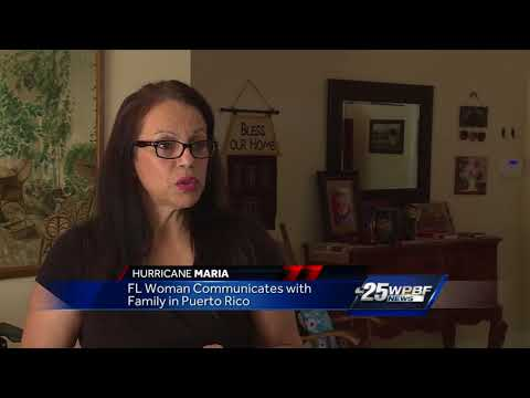 FL woman communicates with family in Puerto Rico