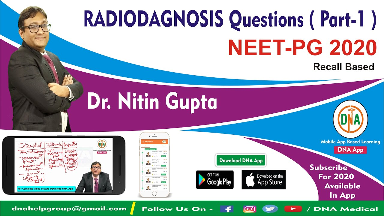 Radiology NEET PG 2020 I Recall Questions & Answers Discussions By Dr. Nitin Gupta #MedicalRadiology