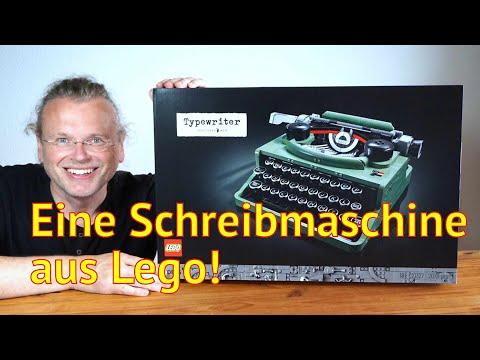 Literatur und Lego: Wir bauen eine Schreibmaschine in 11 Stunden (Bausatz #21327)