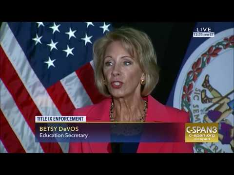 Title IX: Education Secretary Betsy DeVos delivered an address at George Mason University