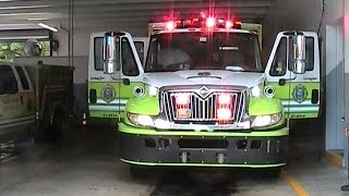Miami Dade Fire Rescue Rescue 8 lights setup (walk around) [FL | 8/2012]