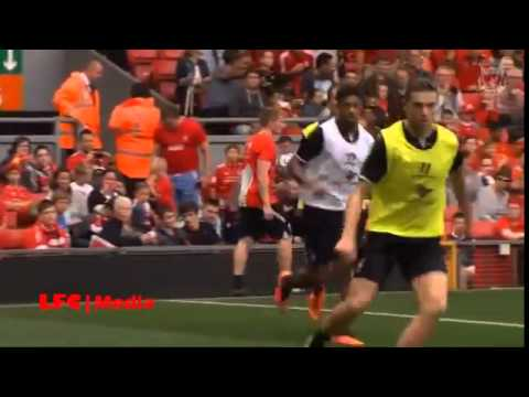 Liverpools open training day at Anfield