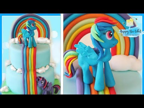 How To Make A MY LITTLE PONY CAKE With RAINBOW DASH & TWILIGHT SPARKLE!