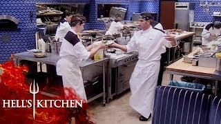 The Black Jackets Kęep Up With Ramsay's Team | Hell's Kitchen