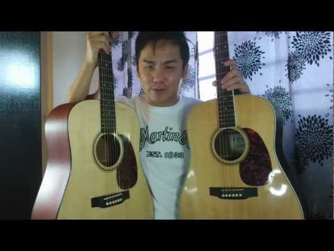 Comparison Martin D16RGT and D16GT Rosewood Vrs Mahogany Review In Singapore