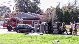 Ocean Twp Oakhurst Fire Department 3 Car MVA W Rollover And Entrapment 10-14-19