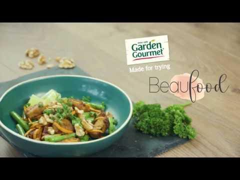 Noedels Van Zoete Aardappel Met Garden Gourmet Oosterse Wokblokjes