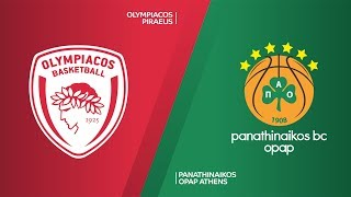 Olympiacos Piraeus - Panathinaikos OPAP Athens Highlights | Turkish Airlines EuroLeague, RS Round 27