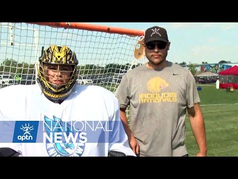 Goalie Lesson with Iroquois Nationals Lacrosse | NAIG 2017