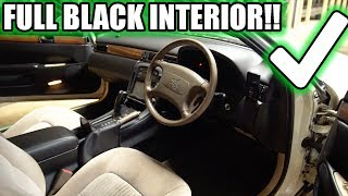 SOARER FULL TAN TO BLACK INTERIOR IS DONE!