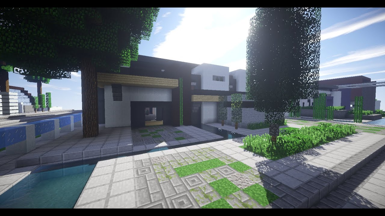 Construir casa moderna cheap think different with for Casa minimalista minecraft