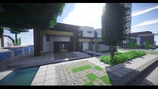 Minecraft | Vamos a construir - Casa Moderna 2 | Texture Pack Default Ep. 2 ft. GeorgeOV