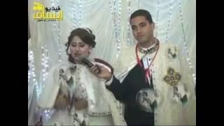 فرح المعلم مينا شاكر مرتل الكنيسة المعلقة وعروسته يوستنيا ولحن اجيوس الفرايحي من العروسين