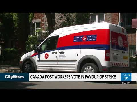 Canada Post Workers Vote In Favour Of Strike Action
