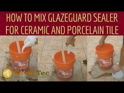 how to mix glazeguard sealer for ceramic and porcelain tile