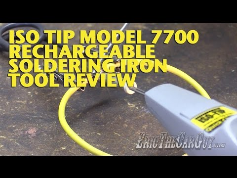 iso tip model 7700 rechargeable soldering iron tool review ericthecarguy youtube. Black Bedroom Furniture Sets. Home Design Ideas