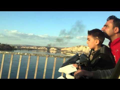 Crossing Euphrates Birecik Turkey