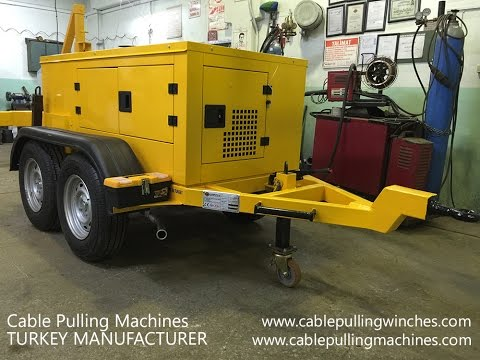 10 Tons Cable Pulling Machines cablepullingmachines.com - YouTube