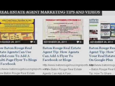 Greater Baton Rouge Real Estate Video News and Real Estate Agent Online Marketing Tips