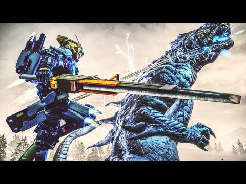 GODZILLA KAIJU ATTACKS in Earth Defense Force Iron Rain Gameplay!