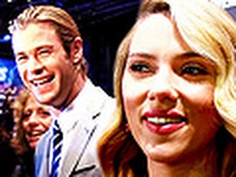 """""""The Avengers"""" premiere in Rome with Scarlett Johansson and Chris Hemsworth"""