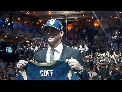 2016 NFL Draft - Jared Goff 1st Overall Pick To Los Angeles Rams