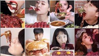 Raw Beef ASMR Compilation - Beef Tartare, Sashimi, Yukhoe Eating Party