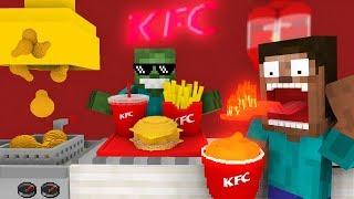 Monster School: Work At Kfc Fried Chicken! - Minecraft Animation