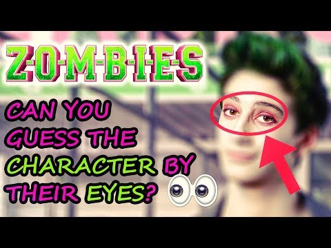 ZOMBIES DISNEY 🧟 Can You Guess The Cast By Their Eyes? 👀 ft. ZED,ADDISON,BUCKY,ELIZA,BONZO & More