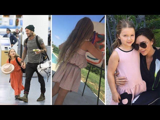 David Beckham & Victoria Beckhams Daughter   2018 {Harper Beckham}