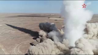 Попадание ракеты ОТРК «Искандер-М» в цель: замедленная съемка